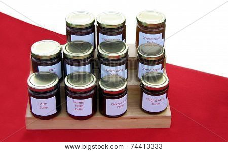 Jars of fruit butter