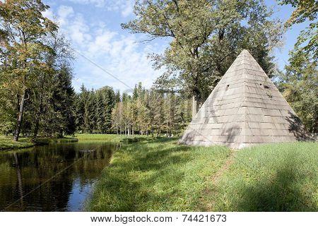 Pavilion Pyramid. Catherine Park. The town of Pushkin. Russia.