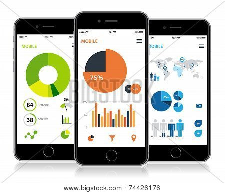 Mobile Infographic Statistics Design