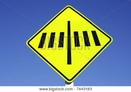 Zebra Crossing Road Sign