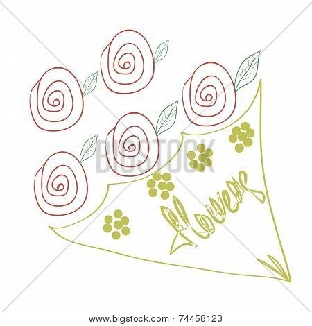 Flowers rose