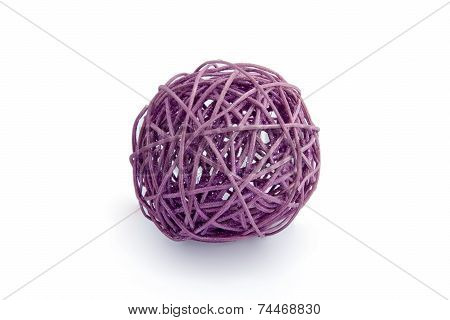 Decorative purple tangle. Isolated on white background. poster