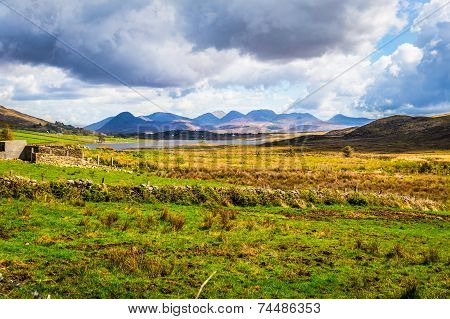 Dramatic View Of The Twelve Bens In Connacht