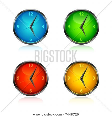 Clocks and watches Set 2 - bright colors