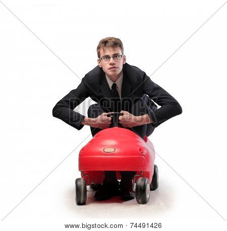Driving a big car