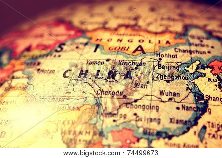 China On Map