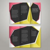 modern paper style design for tri-fold brochure template poster