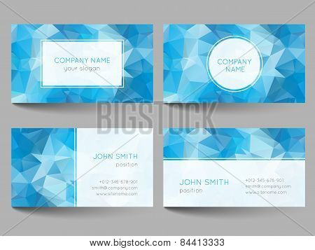 Set Of Business Cards Low Poly Design