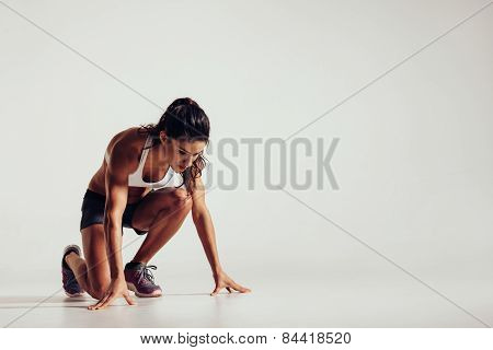 Healthy Young Woman Preparing For A Run