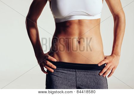 Torso Of Young Sporty Woman
