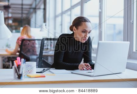 Young Business Executive Using Laptop
