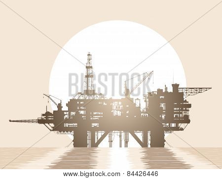 Sea oil rig. Oil platform in the sea