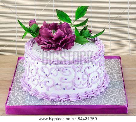 Wedding Cake With Flower