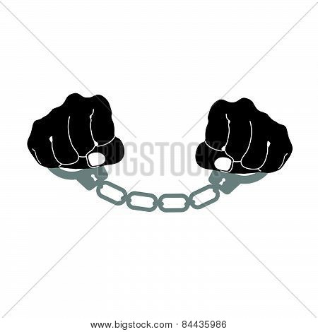 Handcuffs Prison Vector Illustration