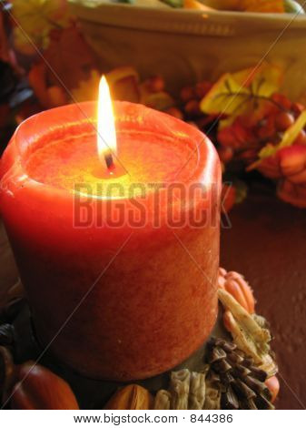 Autumn Candle Closeup