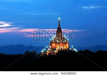 Gawdawpalin Pahto Pagoda In Bagan Archaeological Zone, Myanmar