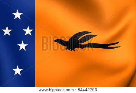 Flag Of New Ireland Province, Papua New Guinea.