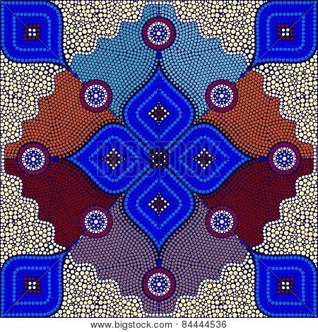 An Illustration Based On Aboriginal Style Of Dot Painting Depicting Strangers - 4