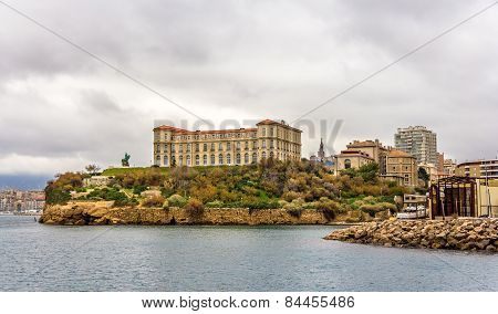 Palais Du Pharo In Marseille As Seen From The Sea - France