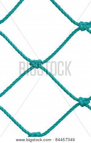 Soccer Football Goal Post Set Net Rope Detail, New Green Goalnet Netting Ropes Knots Pattern
