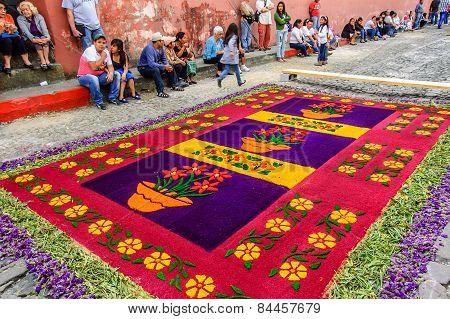 Lent Processional Carpet, Antigua, Guatemala