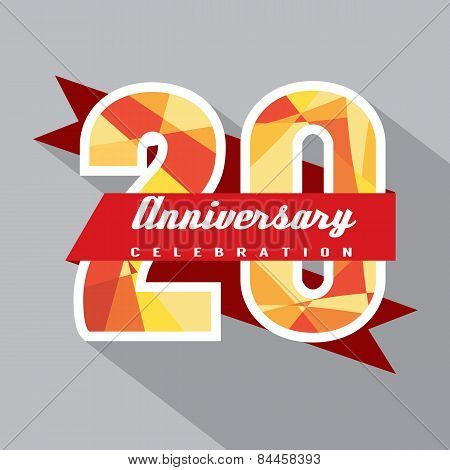 20 Years Anniversary Celebration Design.