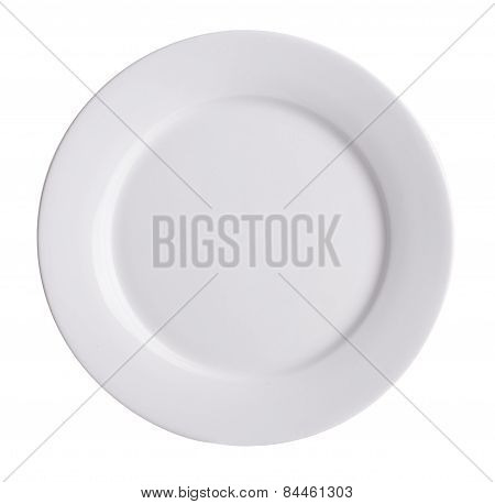 Plate, On Background. Ceramic Plate On A Background