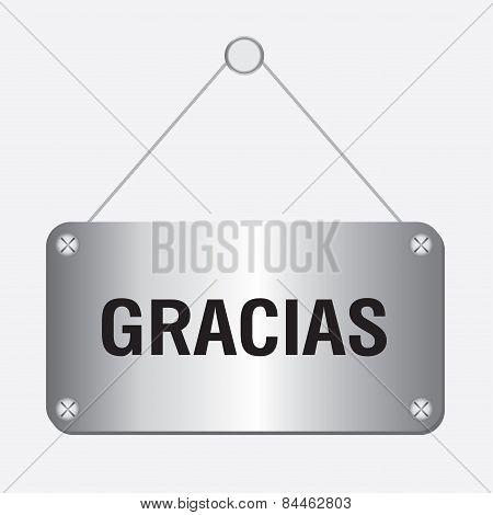 silver metallic gracias