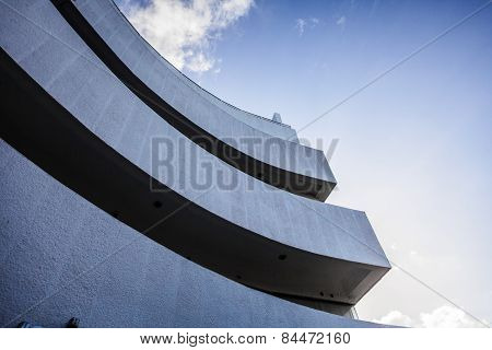 Abstract Crop And Curves Of A Modern Building