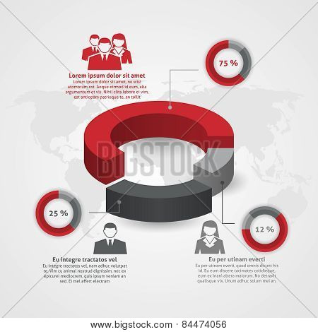Business team composition infographic