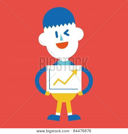 Character Illustration Design. Businessman Delivering The Speech Cartoon,eps