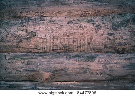 horizontal surface of untreated wood