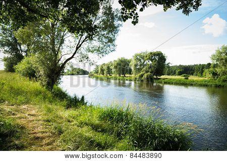 River beautiful landscape