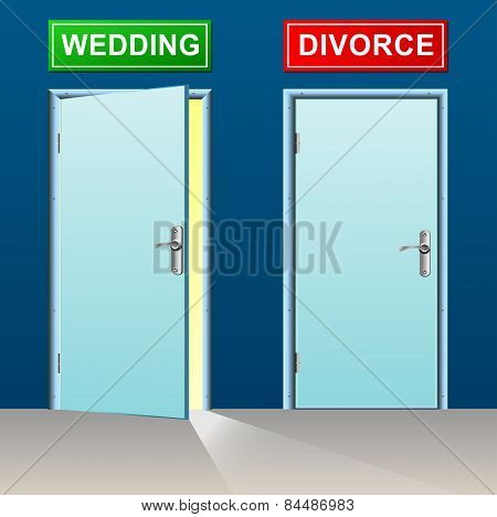 Wedding And Divorce Doors