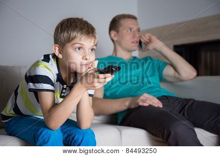 Boy Watching Movie