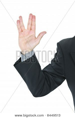 Man Giving Vulcan Salute
