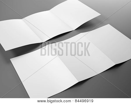 Blank Template Of Trifold Brochure A4 Size