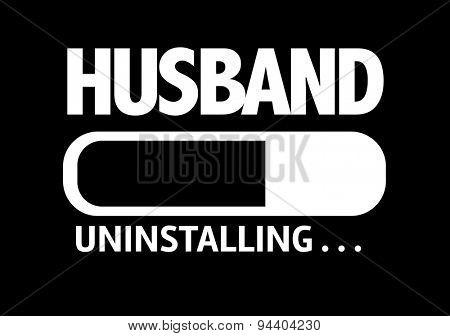 Progress Bar Uninstalling with the text: Husband