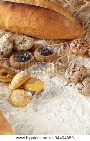 Bread Biscuits And Flour