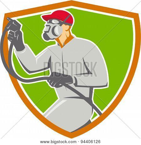 Spray Painter Paint Gun Spraying Shield Retro