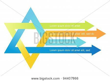 crossed arrows creating david star