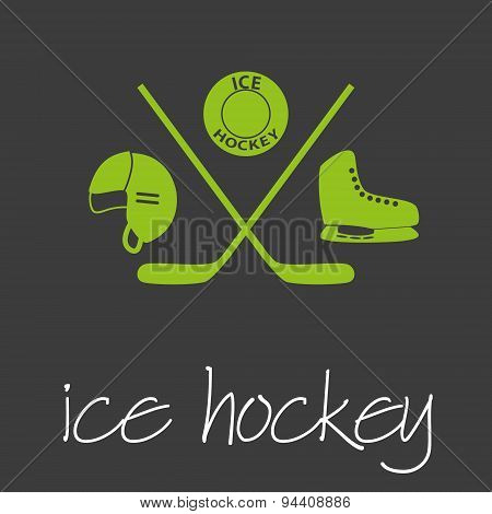 Ice Hockey Sport Commercial Design Banner And Background Eps10