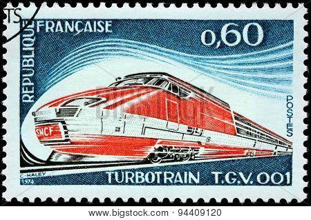 Turbotrain Stamp