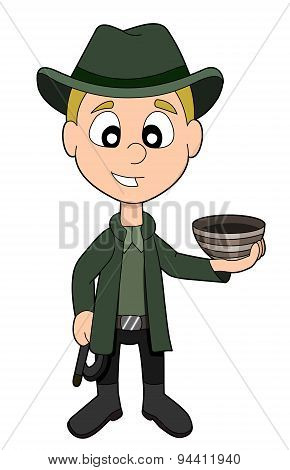 Archeologist Boy Cartoon