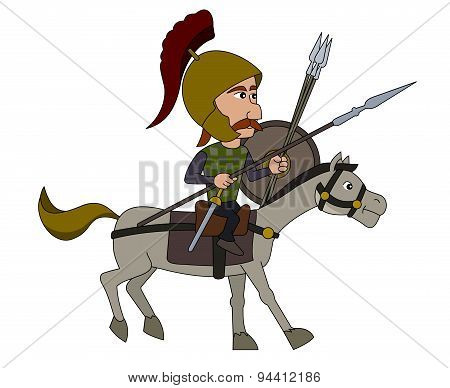 Gallic Warrior Cartoon