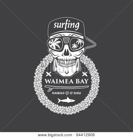 Surfing Skull Hawaii