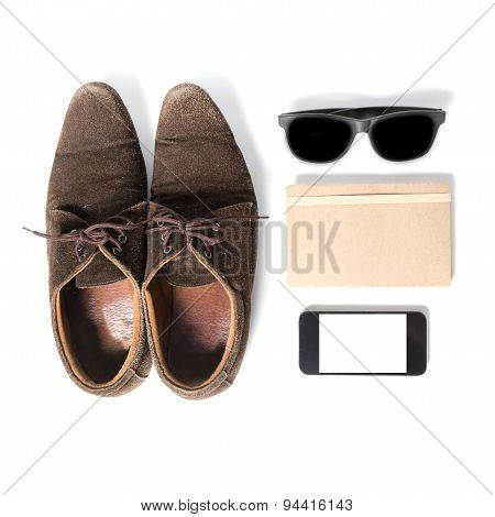 bussiness accessories isolated on a white background