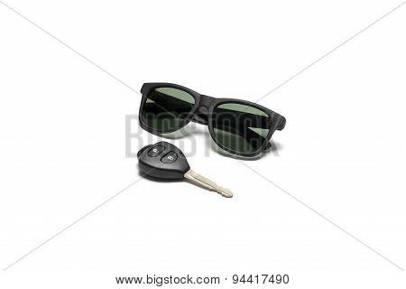 Sun Glasses And Car Key