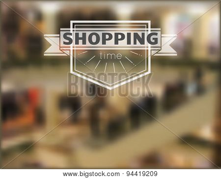 Shopping Time Hipster Blur Background