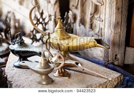 Oriental Lamp At Market